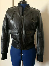 Pepe Jeans London Faux Leather Bomber Jacket Medium