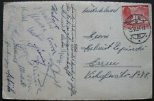 s1926) Fussball WM 1954 - AK gest Spiez 25.VI.54 mit Unterschriften der Spieler