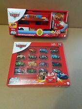 Disney Pixar Cars lot Metal Mini Racers Varity 15 Pack & Mack Mini Racer Hauler