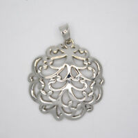 Lia sophia jewelry polished silver tone slide filigree necklace pendant openwork