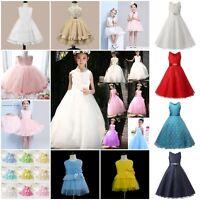 Kids Baby Girls Party/Bridesmaid/Princess/Prom Wedding Flower Communion Dress