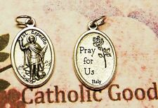 St. Saint Expedite / Pray for Us - Die-Cast Italian Silver Tone 1 inch Medal