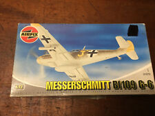 Vintage AIRFIX Messerschmitt Bf 109 G-6 Model Plane Kit New in Box.
