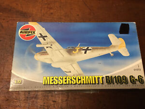 Vintage AIRFIX Messerschmitt Bf 109 G-6 Model Plane Kit New in Box.