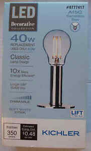 Kichler LED 40W/4W A15C Candelabra Filament-Soft White-Dimmable-513715-Save 2+