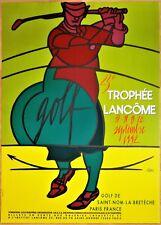 GOLF * TROPHÉE LANCÔME (23e) * Valerio ADAMI * 1992 * Affiche Originale