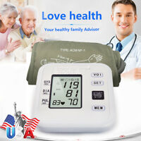 Upper Arm Blood Pressure Monitor with Arm Cuff Accurate Measurement LCD screen