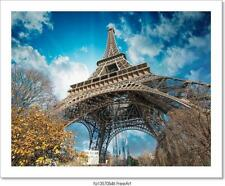 Beautiful Colors Of Eiffel Tower Art/Canvas Print. Poster, Wall Art, Home Decor