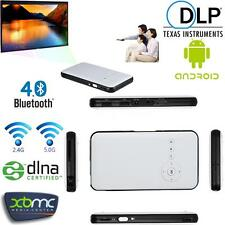 HD 1080P WIFI Mini Andriod DLP Home Projector+Smart TV Box for Android IOS Phone
