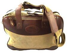 BOB TIMBERLAKE Vintage Messenger Bag Schulter Tasche Canvas Leder Khaki Beige