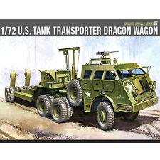 Academy 1/72 U.S TANK TRANSPORTER DRAGON WAGON Plastic Model Kit Armor #13409