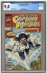 Captain Marvel v2#1 (CGC 9.0) Monica Rambeau; Marvel; 1989; Newsstand A600