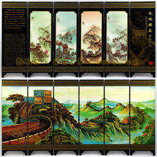 Chinese Vintage Folding Decorative Table Screen Toy Model Home Decor Gift