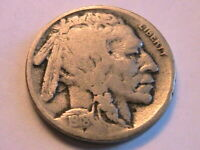 1918-S Buffalo Nickel Good+ (G/VG) Grey Tone Original Indian Head 5 Cent US Coin