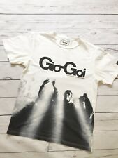 Gio Goi T Shirt Small White Tee One Foot In The Rave Top Festival Party Clubbing