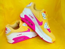 NEW WOMAN'S Nike Air Max 90 RETRO PINK/YELLOW (325213-702)  Size 8