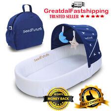Bassinets for Newborn Baby Travel Portable Sleeper Nest Infant Lounger Pod blue