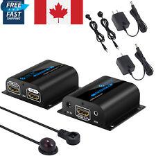 HDMI Extender Ethernet Cable IR 1080P 3D TX RX UTP 60M RJ45 Cat6/6A/7 CA NEW