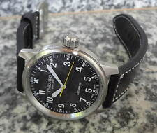 Marken-Herrenuhr: Flieger-Automatik 45mm, mit ETA-Werk, CHEZARD 2842F, Band dick