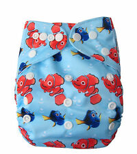 Modern Reusable Washable Baby Cloth Nappy Nappies & Insert, Nemo