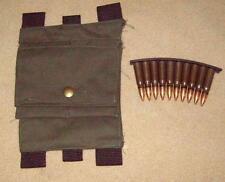 SKS/ russian/ china/ YUGO/ swiss RIFLE / buttstock ammo pouch / reenactor/ 7.62