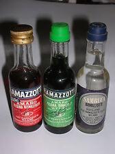 3 MIGNON RAMAZZOTTI  ( AMARO/GINSENG  AMARO/MENTA  SAMBUCA )  3CL