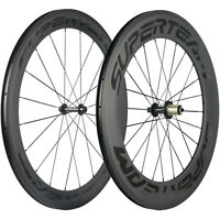 SUPERTEAM 60/88mm Depth Clincher Road Bike Carbon Wheels R13 Bicycle Wheelset