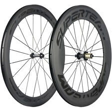 SUPERTEAM 60/88mm Depth Clincher Road Bike Carbon Wheels R13 Bicycle Wheelset
