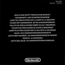 Original Nintendo DS Beipackzettel (Gesundheits- und Sicherheitshinweise) 10 Stü