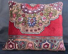 Brillant color carpet pillow,vintage rug pillow,pillow cover,Throw rug pillow