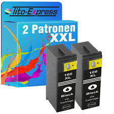 2 cartouches xxl Black pour Lexmark 100 xl impact s305
