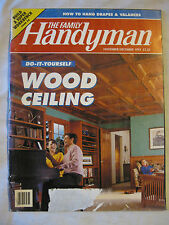 The Family Handyman Nov. Dec.1993 Do It Yourself Wood Ceiling, Build Work Bench