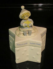 Hallmark Holiday Christmas Ceramic Trinket Star Box Figurine Gourmet Gifts