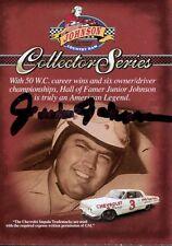 JUNIOR JOHNSON HAND SIGNED COUNTRY HAM RACING TRADING CARD     NASCAR LEGEND