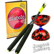 Destreggiarsi tra DREAM JESTER Diabolo, il carbonio Grind mano BASTONI & Free instuctional DVD