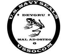 SOCOM NAVY SEAL FROG Vinyl Decal - Sticker 5x5 - Any Color