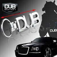DUB LOGO KEY CHAIN EMBLEM DODGE CHARGER CHRYSLER AUDI BMW MBZ PORSCHE