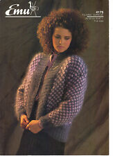 Emu Filigree Supreme KNITTING PATTERN lady's jacket 1342