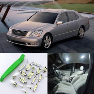 White 19pcs Interior LED Light Kit for 2001-2006 Lexus LS430 + Free Tool