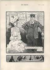 1902 Rene Bull dibujos animados elevación del tubo Twopenny notas Riviera