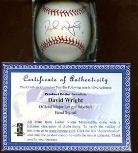 David Wright #5 Single Signed Official MLB Selig Baseball Wright Hologram + COA