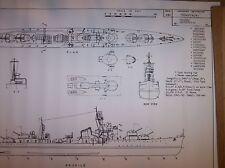 TERUTSUKI  japanese destroyer plans