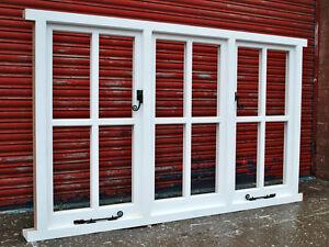 Hardwood Timber Cottage style Triple Casement Windows Made To Measure! Bespoke!