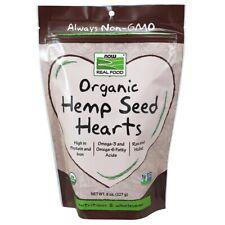 Now Foods Organic Hemp Seed Hearts - 8 oz FRESH, FREE SHIPPING, MADE IN USA