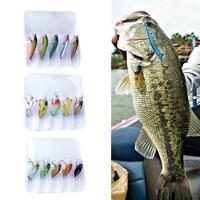 5PCS/SET Fishing Lures Kit Treble Hooks Tackle Bass Minnow Baits + Fishing Box