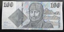Australia $100 one hundred dollars banknote 1992 Fraser & Cole, Australian AUD