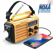 Weather Fm Radio Raynic Solar Hand Crank Emergency 5 Way Power Bank Sos Outdoor