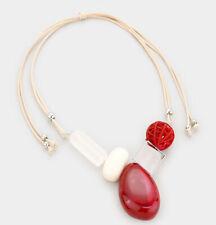 MARNI H&M Red Gem Bib Adjustable Necklace