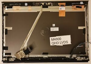 """Dell Precision M4800 15.6"""" QHD LCD Back Cover Lid Assembly, Hinges Cables A131CY"""