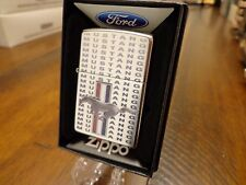 FORD MUSTANG LOGO MUSTANG REPEATING ZIPPO LIGHTER MINT IN BOX